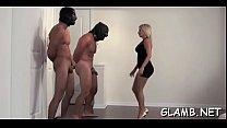 Mistresse kicks villein in balls thumb
