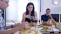 Mom Fucks Son & Eats Teen Creampie For Thanksgiving Treat image