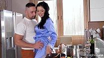 Russian Wife Kira Queen Fucks And Sucks Her Man Before Work