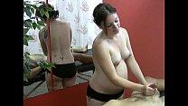 Pregnant Masseuse Masturbates A Horny Client's Cock