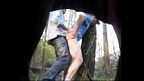 Truckers fucking in the woods caught on hidden cam - hornycamguys.com