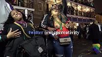 Black chick flashing one tit for the crowd during mardi gras tumblr xxx video