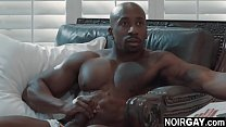 White hunk sucks his black gay step cousin's bbc - gay interracial sex
