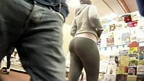 Big booty PAWG shopping in grey spandex pornhub video