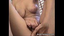Busty amateur Jacklynns masturbates after interview Thumbnail