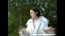Amateur bbw babe Rebecca nude in public