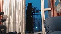 exhibe en niqab et collant />                             <span class=