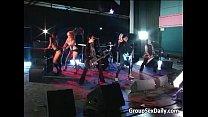 LA group sex adventure in public bar