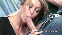 Mature slut Kristina Cross takes all the jizz o...