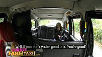 Female Fake Taxi Euro babe offers her pussy as fare to busty redhead