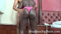 BrazilianBigButts.com Slapping This Thick Black Ass pornhub video