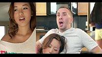 Alina Li Cute Asian Splitscreen