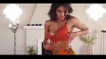 Horny  girl in red bra and saree part 2 sexy make u cum