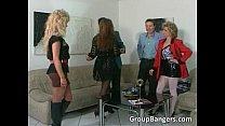 Brutal Dreier Mit Blondine