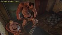 Lulu fucked hard in 3D monster porn animation