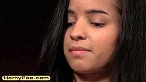 Sensual petite teen Nika pissing on chair pornhub video