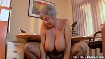 Busty Granny Seduces Young Guy With Her Big Tits's Thumb