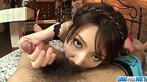 Yui Hatano feels big cock smashing her furry cu...