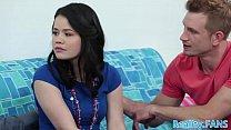 Deepthroating teen gets doublepenetrated video