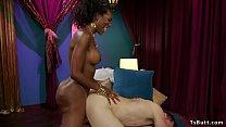 Ebony shemale goddess anal fucks male