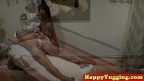 Real nuru masseuse in cock tugging session thumbnail