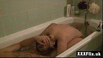Extreme Blonde Teen Sucking Cock in Bath Deepth...