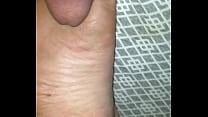 first cum sleeping gf feet thumb