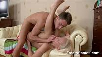 Petite amateur Whore eager to swallow last drop...
