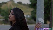Teen latina  squirting after taboo tribbing