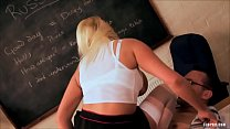 Michelle Thorne Enjoys a Giant Rod in Her Mouth then to صورة