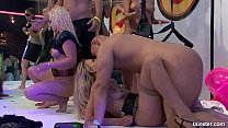 Hot party bitches gets nailed at orgy party thumbnail