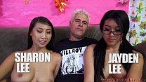 Jayden Lee & Sharon Lee Compete In Cock Sucking Challenge! porn image