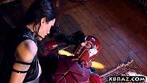 Xmen parody video with Magneto fucking big tits Psylocke: Aomizuan thumbnail