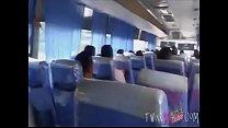 Jacking off On public bus