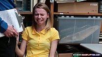Lovely teen shoplifter Catarina gets banged