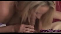 Cute blonde Kiara Diane gives awesome blowjob: tiny ebony pussy thumbnail