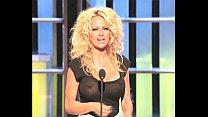 Pamela Anderson Busty In A See-Thru Top