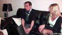 German Mother teach Young Couple to Fuck Good Vorschaubild