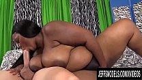 Sexy Ebony BBW Olivia Leigh Takes a Long White ...'s Thumb