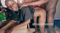Naija ebony beauty fucked her bodyguard