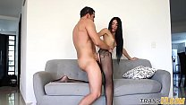 Lingerie Ts Anally Drilled After Teasing