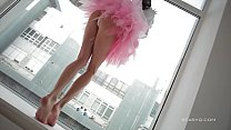 Beautiful Sveta dancing wearing a pink ballerina tutu dress pornhub video