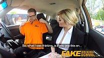 Fake Driving School Posh horny busty examiner swallows a big load Image