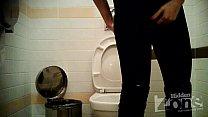 Blonde in blue panties peeing preview image