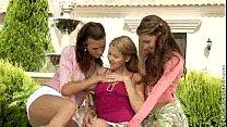 Klara, Juliette, and Zoe McDonald sapphic threesome