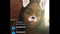 Hushh money huge boobs in live instagram