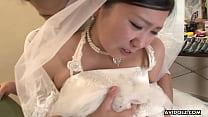 Sweet Japanese woman Emi Koizumi swallows a hairy hard dick Image