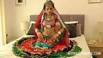 Jasmine Mathur Porn Devi From Gujarat In Traditional Indian Garba Dress Stripping Naked porn image