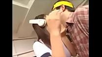 美少女フィギュア痴女のコスプレでキス