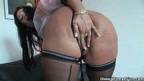 Lingerie mature older woman